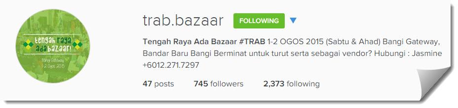 Tengah raya Ada Bazaar Instagram