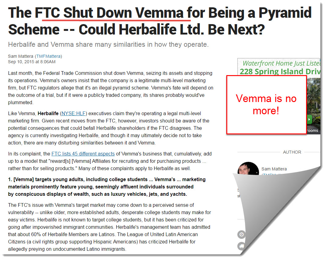 Vemma closed down