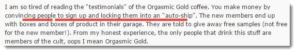 organo gold complaint 5