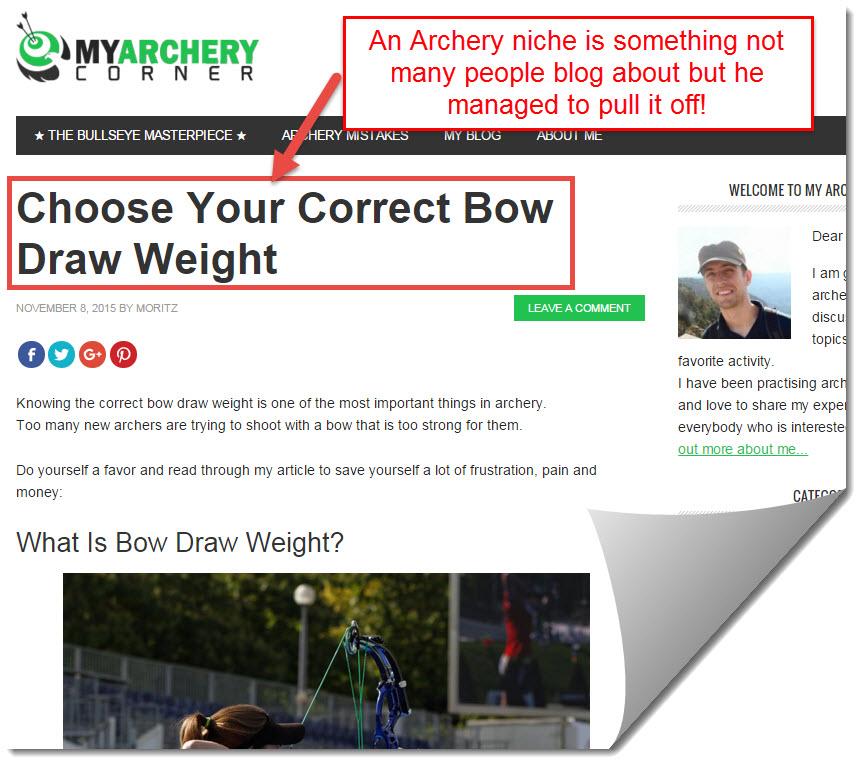 archery corrner by moritz