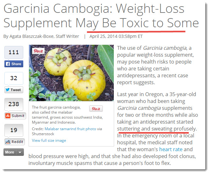 garcinia cambogia may be toxic article
