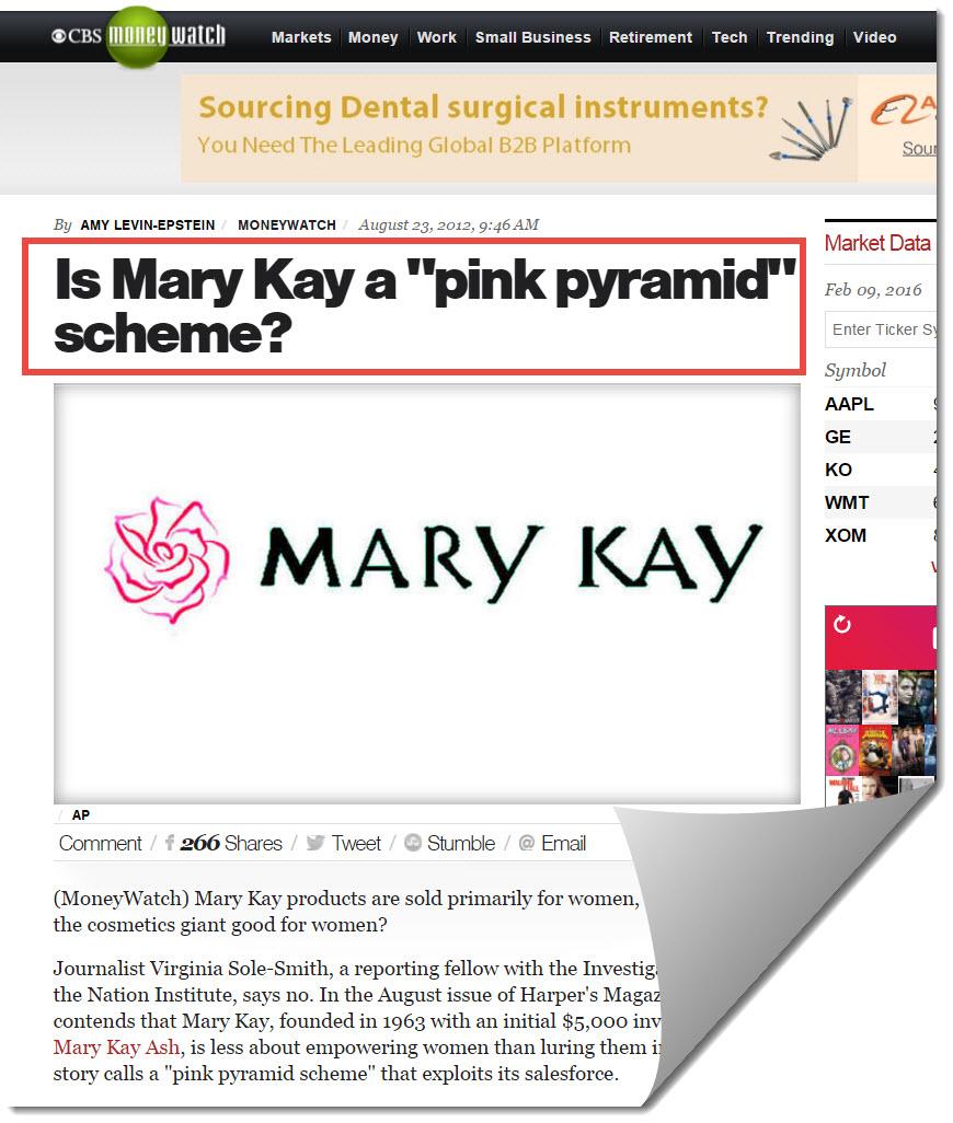 Mary kay on CBS Money Watch