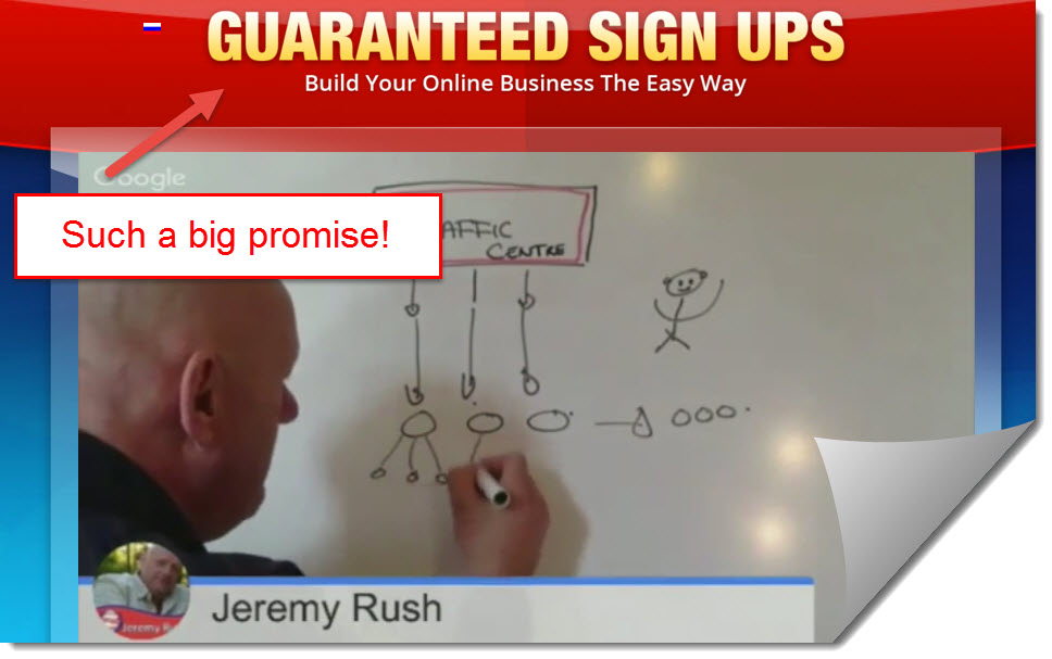 guaranteed signups jeremy rush