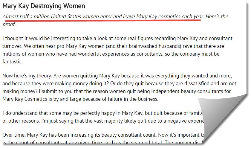 half a million join Mary kay each year