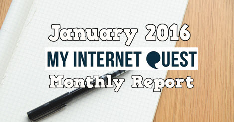 january 2016 monthly report