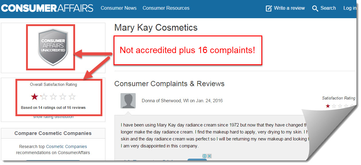 mary kay consumer affairs