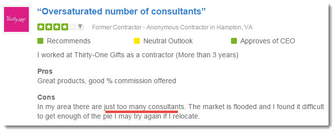 oversaturated number of consultants