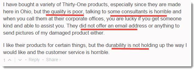 product problem complaint 3