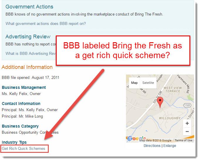 Bring the fresh get rich quick scheme