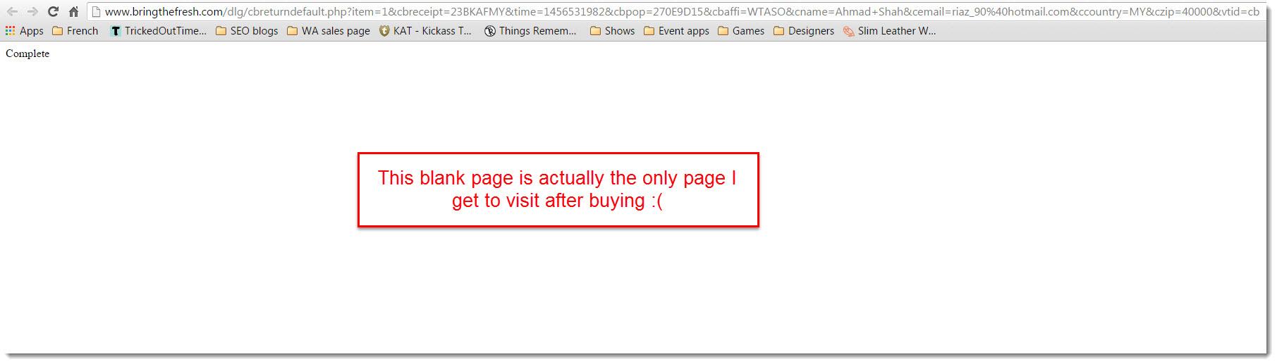 bring the fresh login error