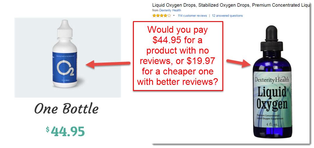 oxygen drops comparison