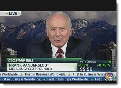 Frank vandersloot is the ceo and founder of Melaleuca