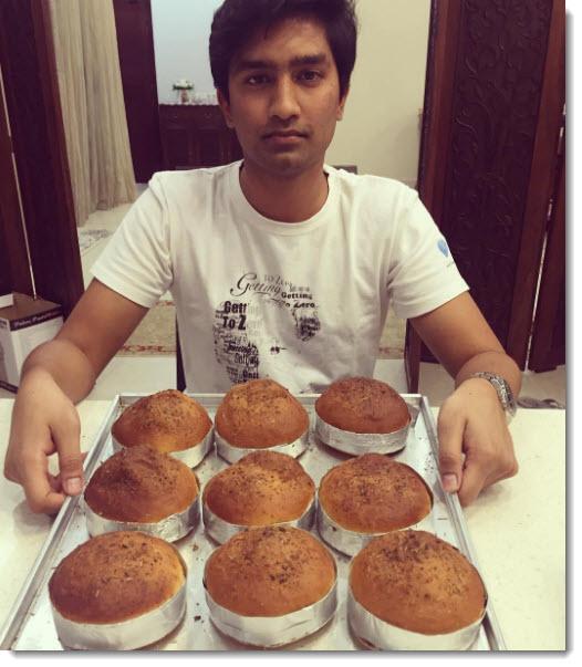 Riaz baking buns for Street Burger