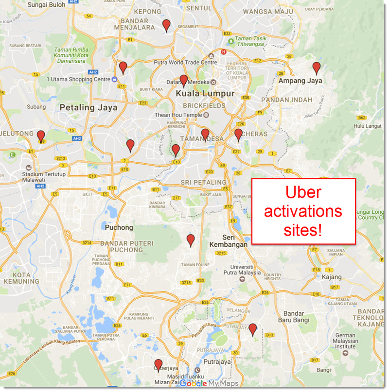 Uber activation sites malaysia