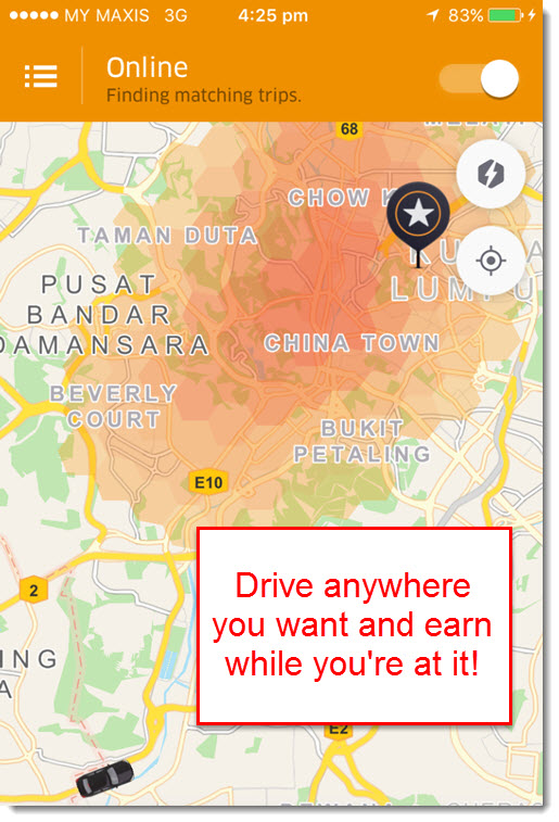 Uber set destination