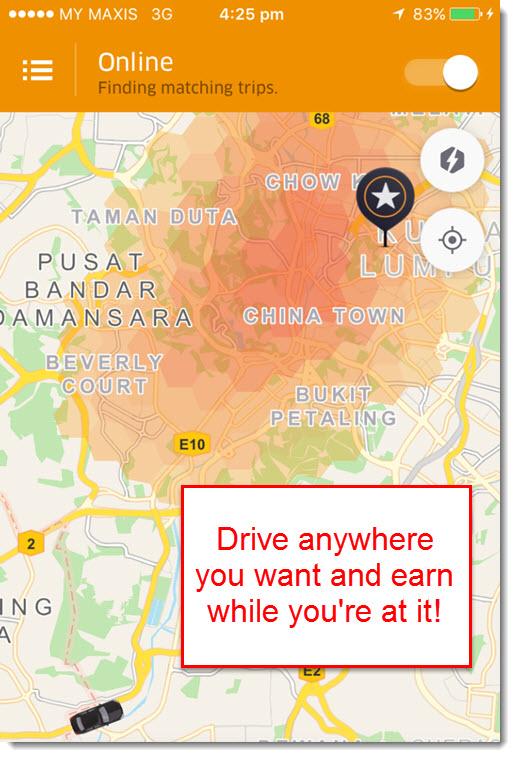 Uber set destination