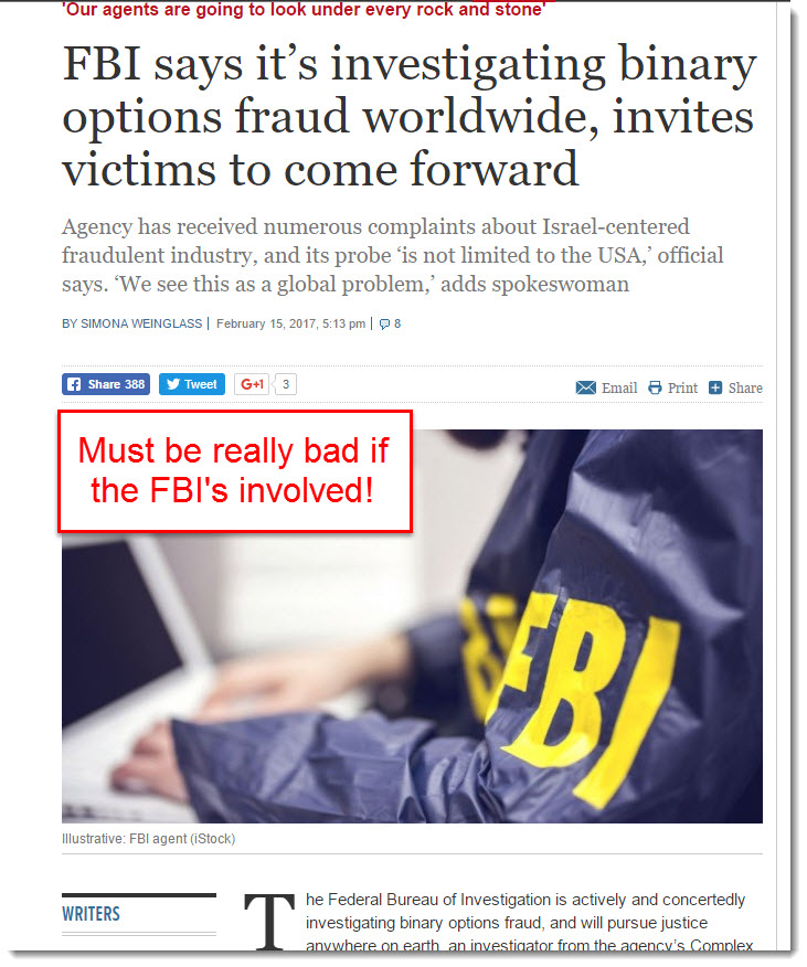 FBI is uncovering frauds