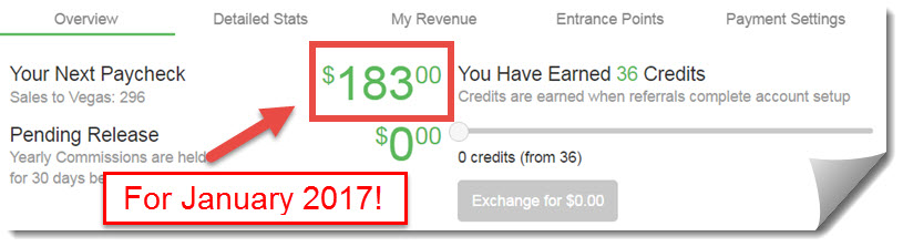 January 2017 Wealthy Affiliate commissions