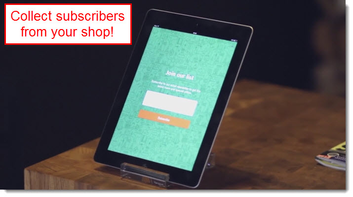 collect subscribers from ipad