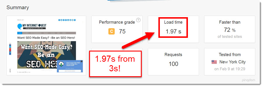 faster page load speed