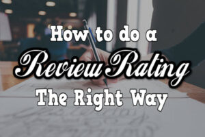 how to do a review rating the right way cover