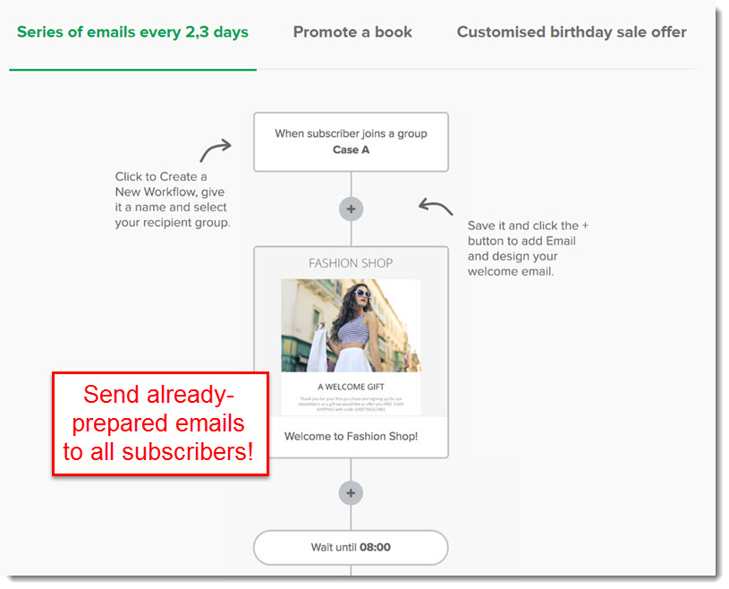 mailer lite email automation