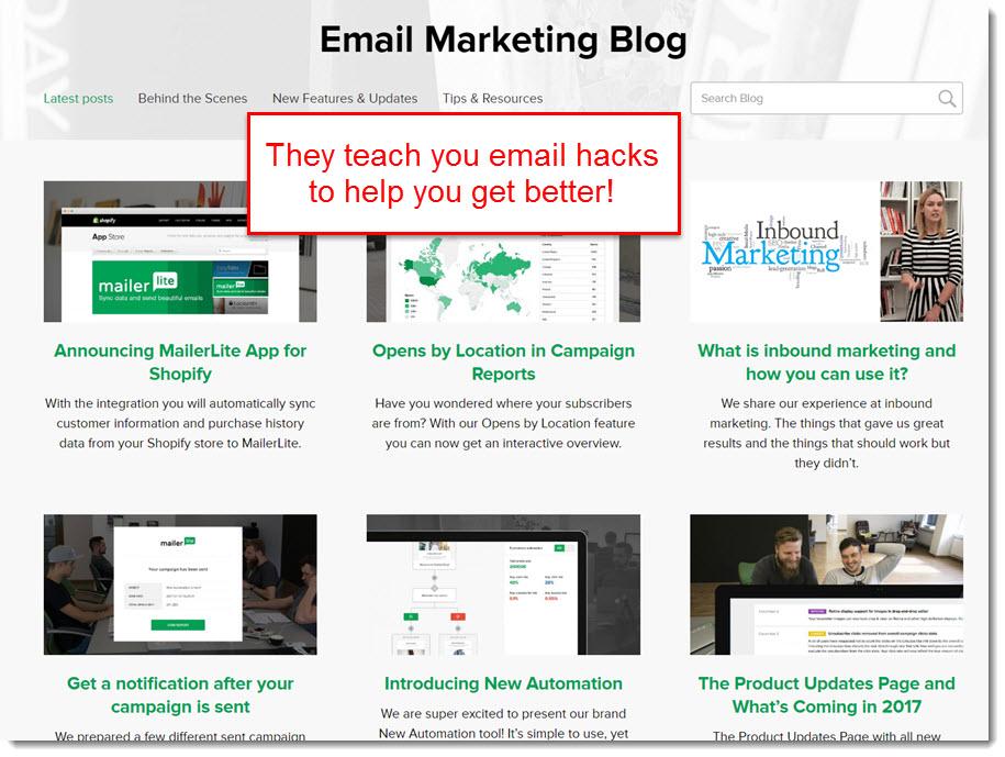 mailerlite blog