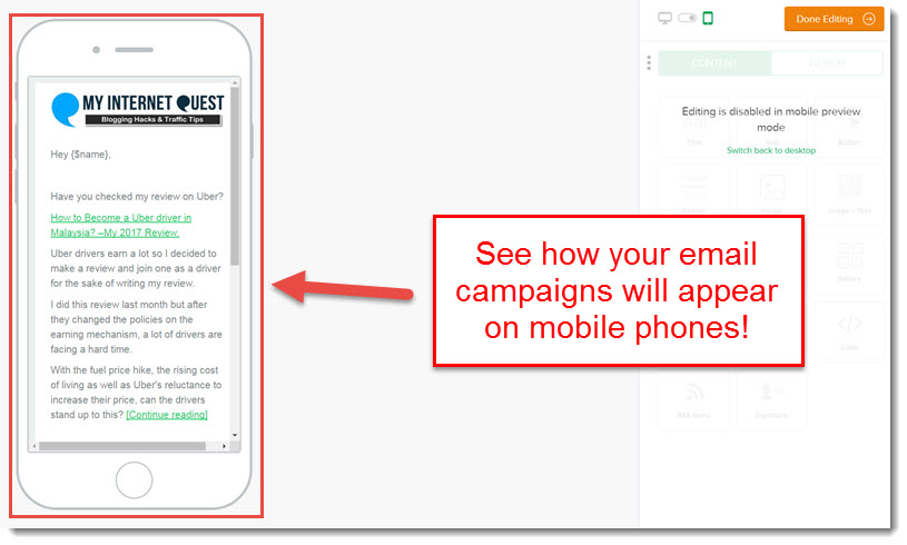 mobile responsive email campaigns