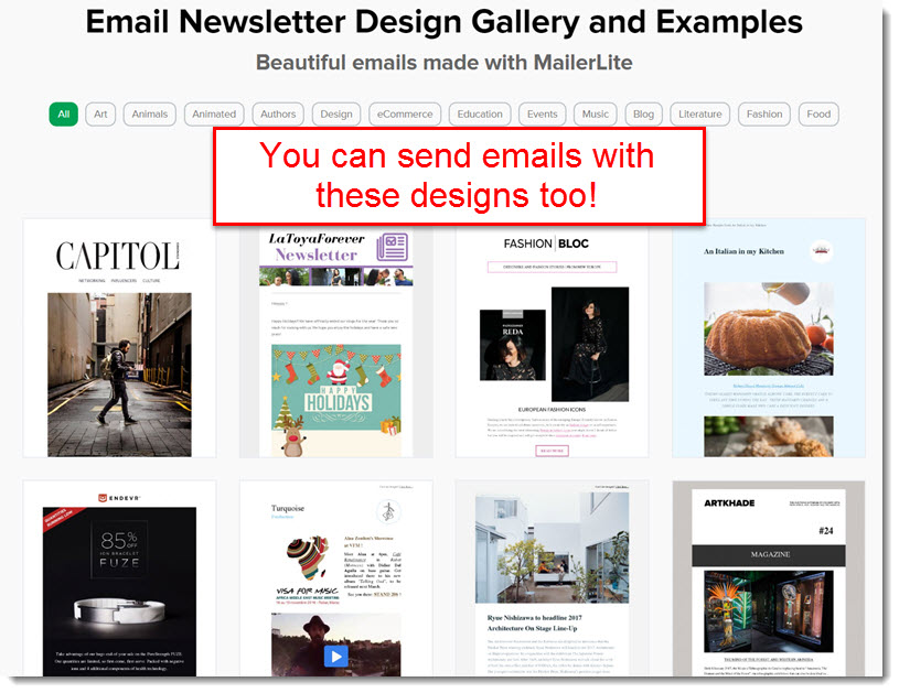 newsletter designs mailer lite