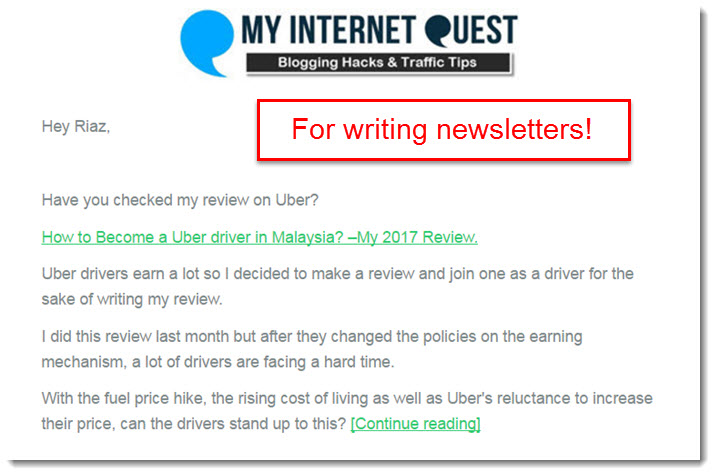 newsletter email template my internet quest