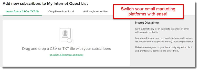 subscriber import mailer lite