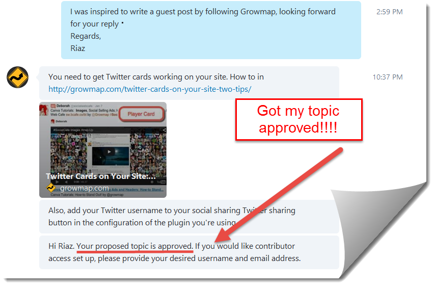 guest post topic approved