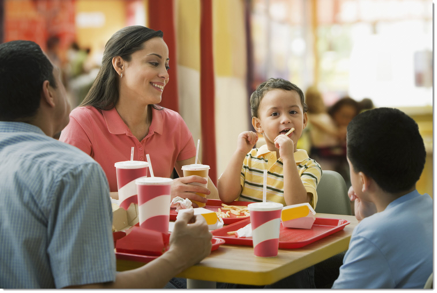 family time at mcdonalds