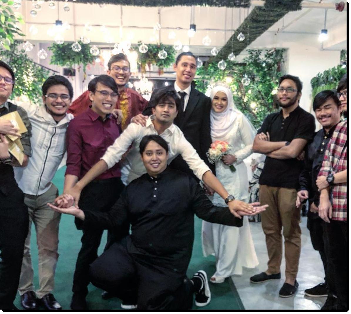 wedding of iqhwan