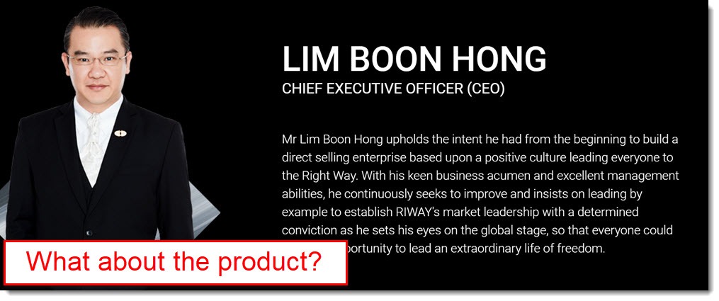 CEO profile has nothing to do withg product