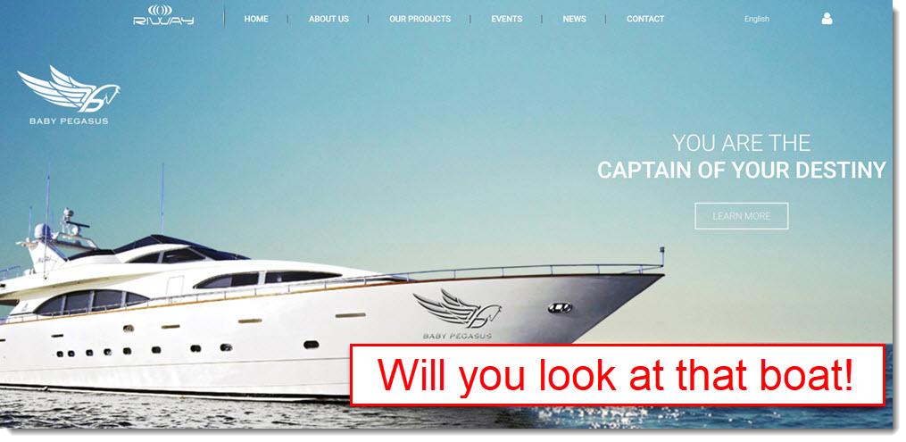 website screenshot of riway
