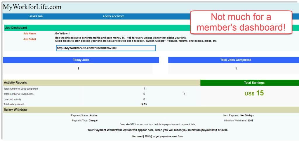 MWFL members dashboard