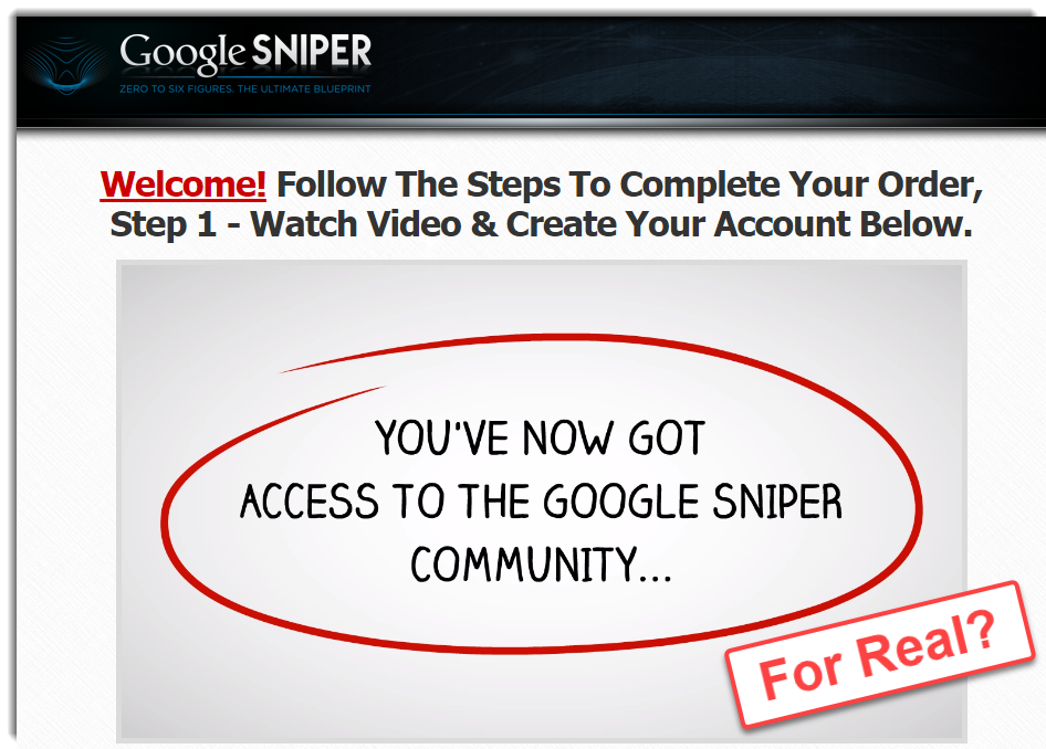 The acclaimed Google Sniper Community