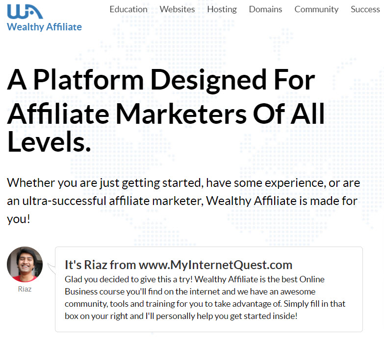 Wealthy Affiliate Home Page 2