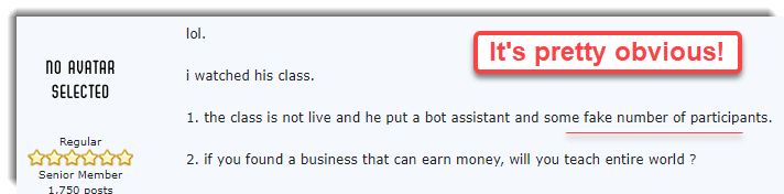 fake webinar with bots