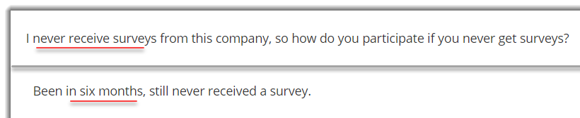Not receiving surveys in BI