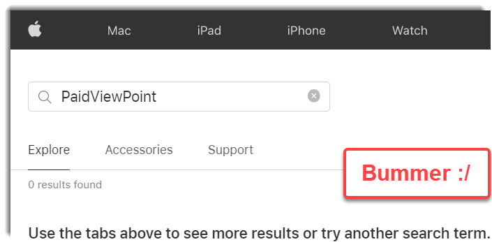Does not have a mobile app PaidViewPoint