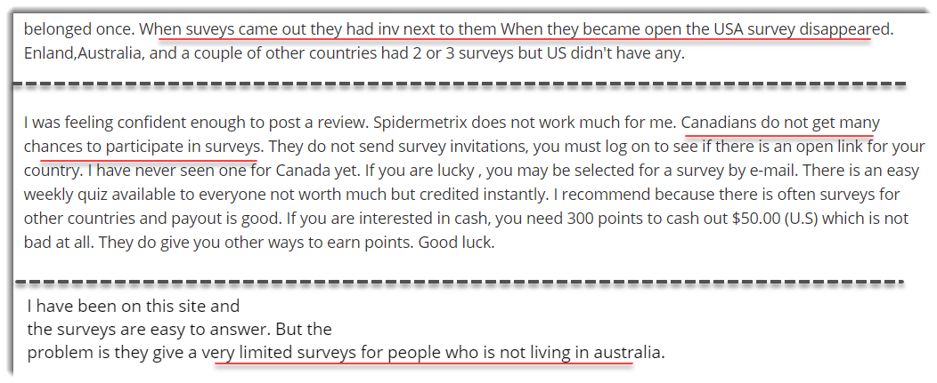 Lack of surveys on SpiderMetrix Complaints