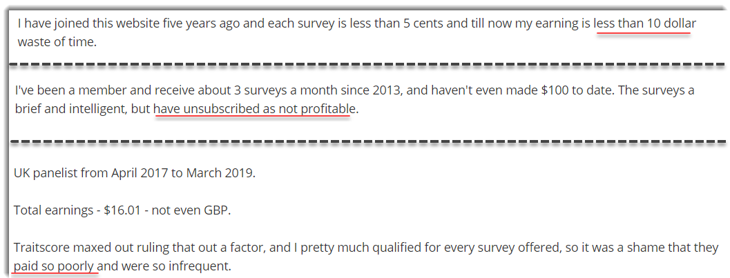 Low earnings PaidViewPoint complaints