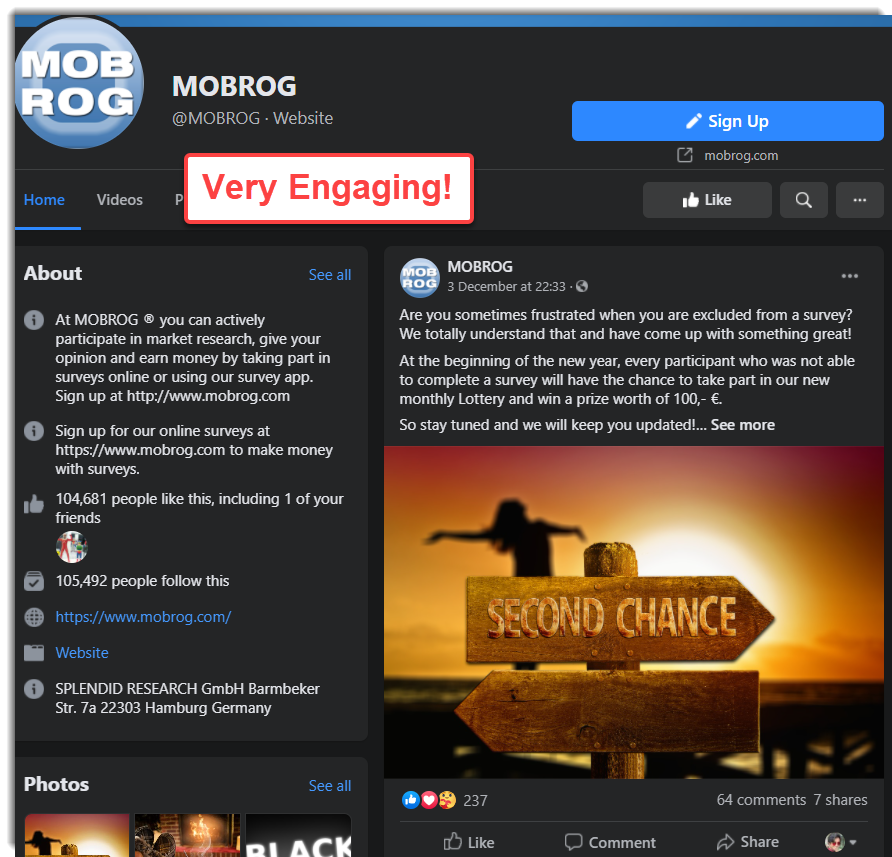 Mobrog Facebook Page