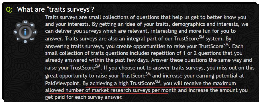PV Trait Surveys PaidViewPoint