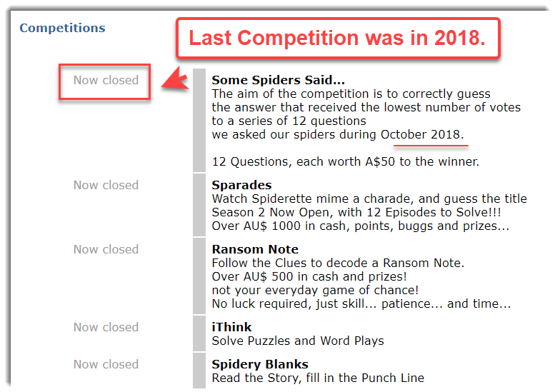 SpiderMetrix Competitions are closed