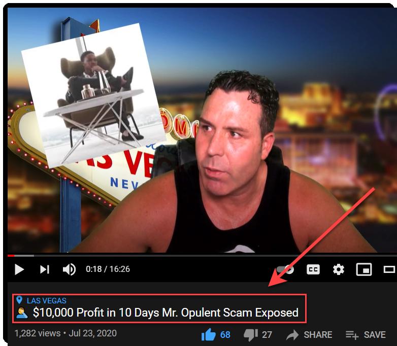 YouTube guy bashing Mr Opulent