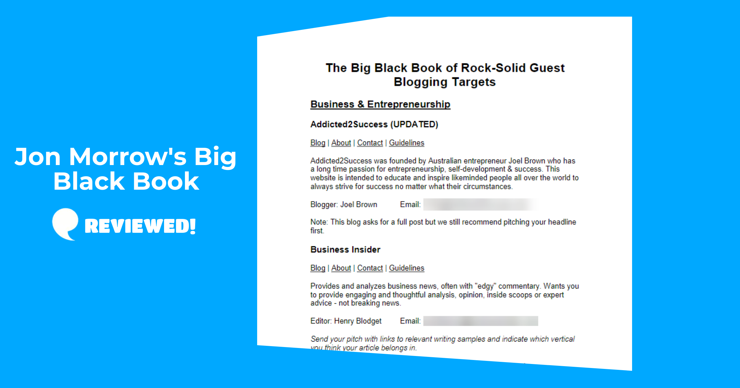 jon morrows big balck book reviewed by my internet quest